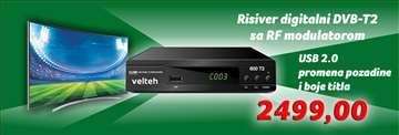 Risiver digitalni DVB-T2 Velteh 600T2 + RF