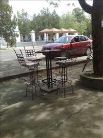 Barske stolice od kovanog gvozdja
