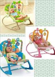 Vibrirajuća ležaljka njihalica za bebe