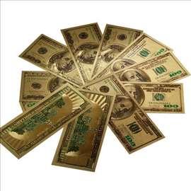 Zlatne novčanice od 100 dolara