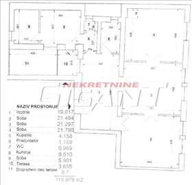 Terazije-K.Milana, 119m2, 4.5