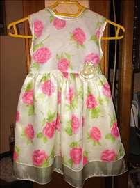 Svecana cvetna haljina vel 86-94