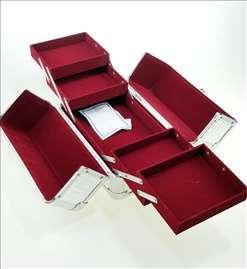 Metalno koferče za šminku, nakit