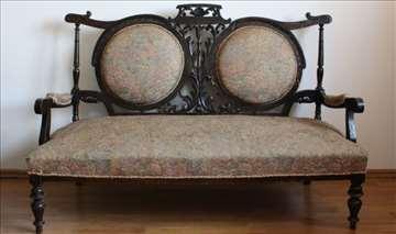 Sofa i 2 fotelje, građanski stil / alt deutsch
