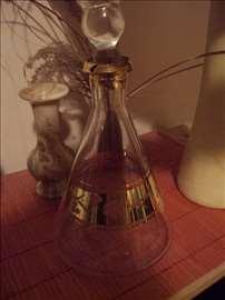 Prelepa staklena  flaša za rakiju