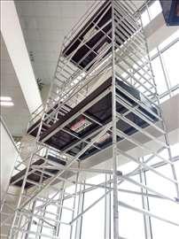 Profesionalna aluminijumska pokretna skela, 6m