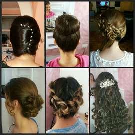 Svečana frizura sa profesionalnom šminkom