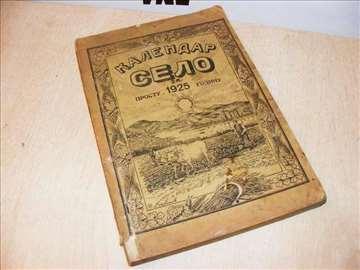 Kalendar Selo za prostu 1925 godinu
