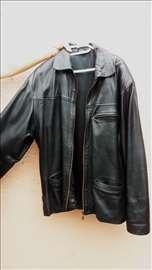 Muška kožna crna jakna