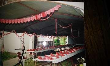 Prodajem šator za 100 ili 150 mesta sa kompletnim