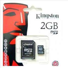 Kingston Micro SD 2GB + SD adapter