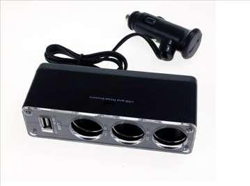 Razdelnik napona za auto + USB - NOVO