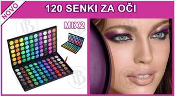 Set senki 2 za profesionalno šminkanje -120 boja