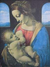 Leonardo da Vinci reprodukcija na platnu