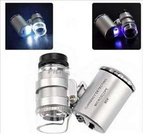 Lupa led mikroskop mini 50x 2LED i UV