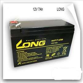 Long akumulator baterija 12V/7Ah,nove