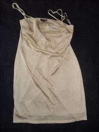 H&M zlatna haljinica broj 38