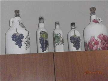 Bidoni i flaše ukrašene dekupažom!