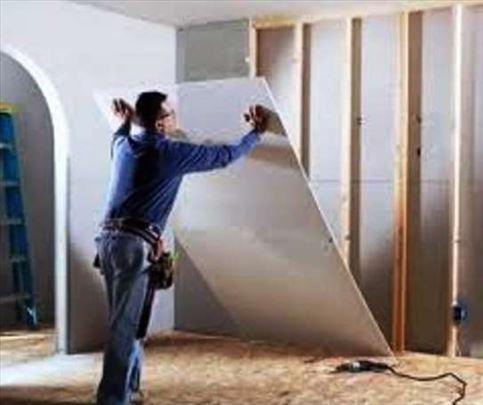 Pregradni zidovi siporeks y-tong, gips knauf osb