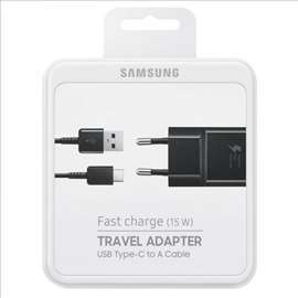 Samsung brzi punjac sa usb type C kablom crna boja