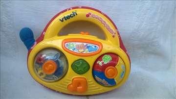 """Igračka plastični muzički """"radio""""15cm, na baterije"""