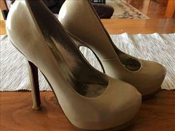 Puder braon cipele sa veelikom stiklom 36