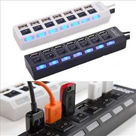HUB USB razdelnik 7 u 1 Black Power