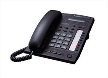 Sistemski telefon kx-t7665 Panasonic, crni, novo!