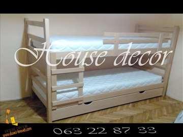 Krevet na sprat + Fioka + 2 duseka