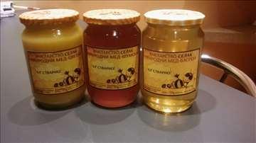 Med-bagremov sa sacem i plodovima, šumski, cvetni
