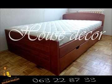 Krevet Kan tresnja, 2 fioke i dusek Casper 140x200