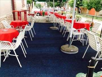 Garniture za letnju baštu,barske stolice i reklame