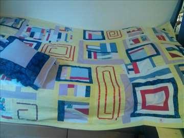 Prekrivač, pačvork,i kao jorg.nav+2 jastučnice (1)