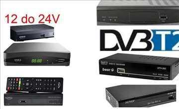 DVB T2 Risiveri za rad na 12 do 24V  prepravka