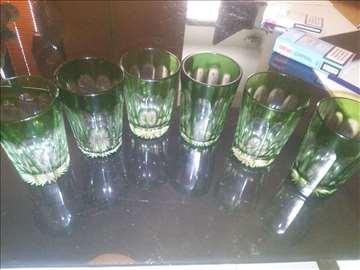 Art deko čaše zelene