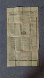 Program za Narodno Pozoriste iz 1986 g.