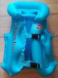 Dečiji vazdušni prsluk za plivanje L plavi