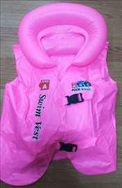 Dečiji vazdušni prsluk za plivanje L roze
