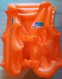 Dečiji vazdušni prsluk za plivanje M narandžasti