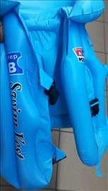 Dečiji vazdušni prsluk za plivanje M plavi