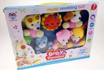 Muzicka vrteska sa plisanim igrackama