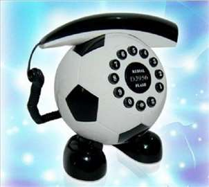 Fixni telefon-fudbalska lopta bela