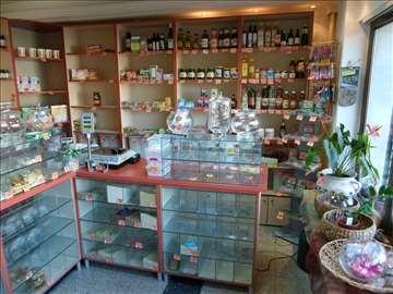 Prodajem opremu za prodavnicu zdrave hrane