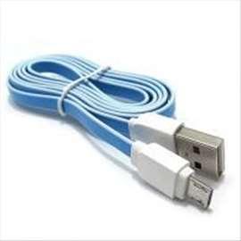 USB data kabal LDNIO XS-07A microUSB 1m plavo-beli