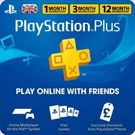 UK/US Playstation plus pretplata i dopuna PS3/PS4