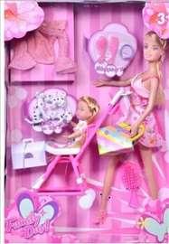 Barbika sa detetom i kolicima- set