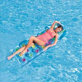 Dušek za vodu na naduvavanje plavi