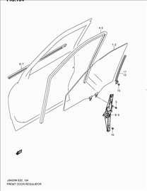 Suzuki Samuraj Podizac Prednjeg Prozora Levi Mehan