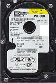 ispravan polovanSATA hard diskod80GB,