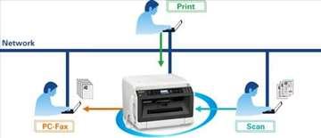 Panasonic faks sa slušalicom, laserski, novo!